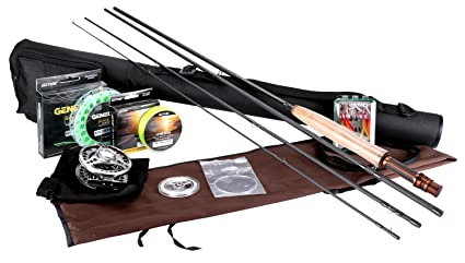 4ddee51c7 Goture Fly Fishing Rod and Reel Combos Fit Saltwater Freshwater 5 6 and 7
