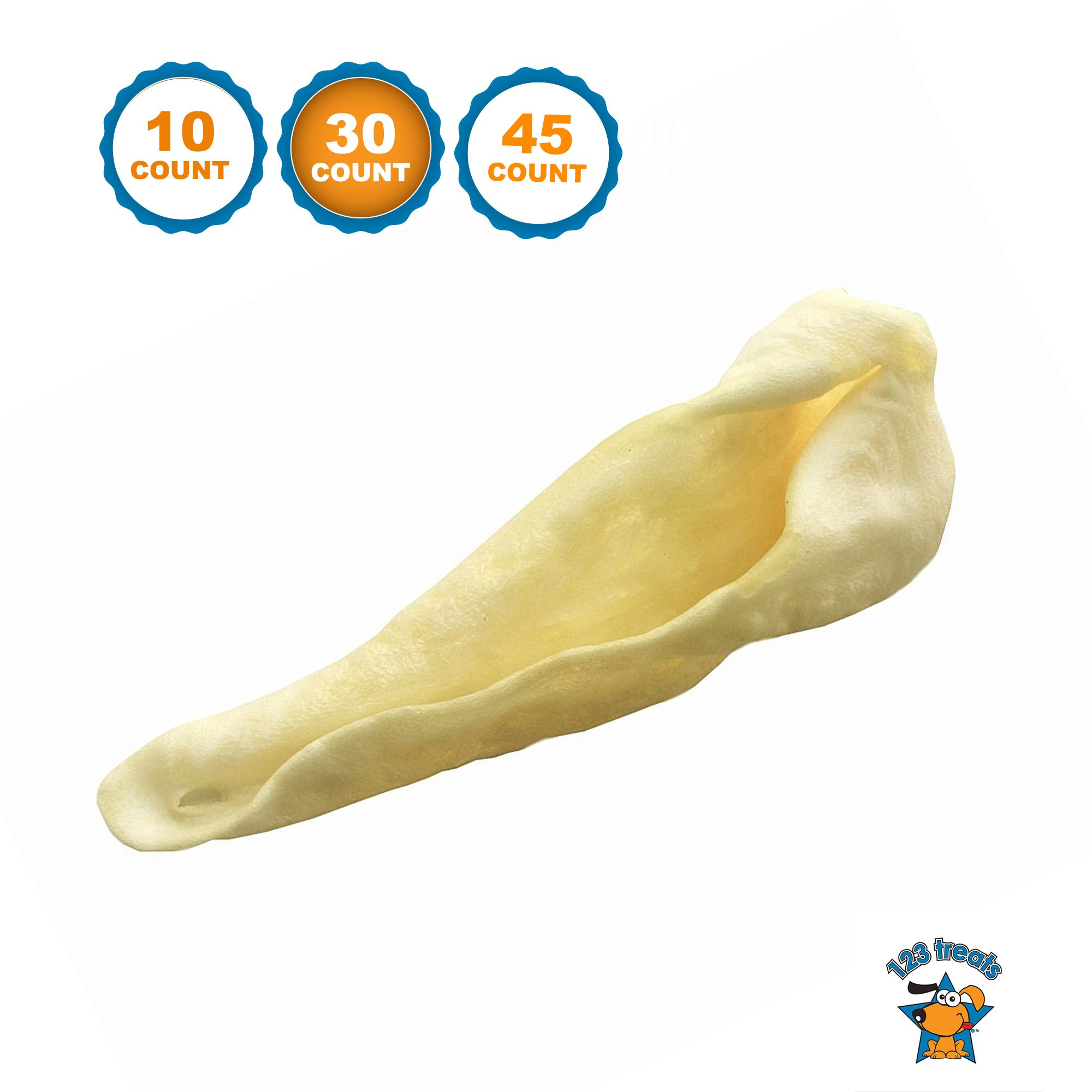 123 Treats - Lamb Ear Dog Chews (30 Count) USDA approved - From All Natural Free Range Lambs - Quality ears for dogs