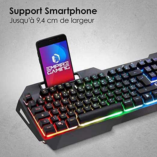 EMPIRE GAMING - Drak Fury Pack Clavier Et Souris Gamer – Support ...