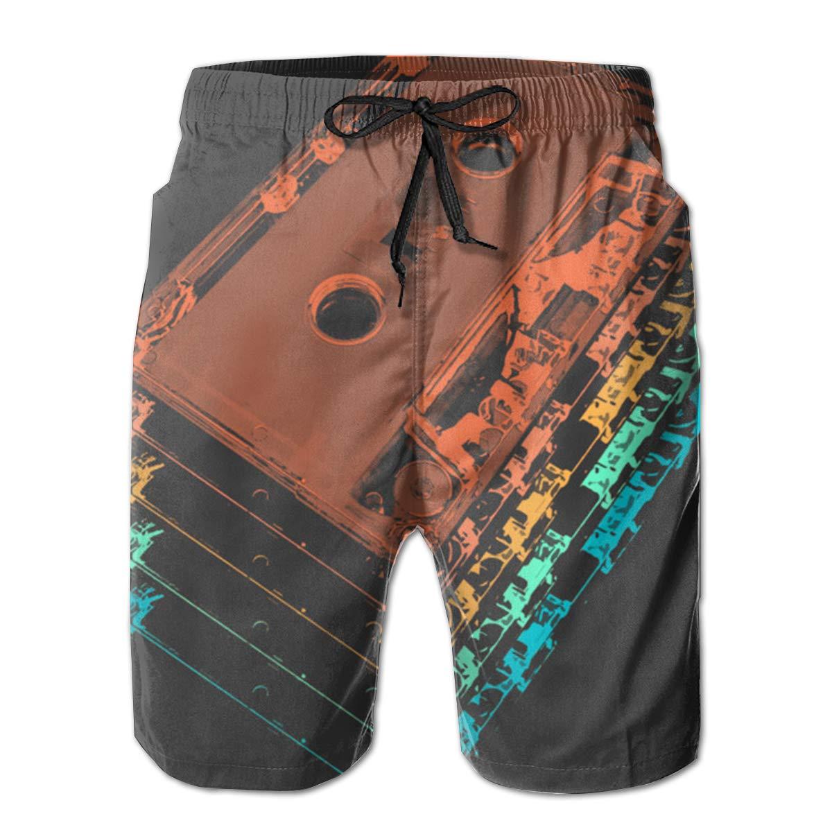 EYFlife Cassette Tapes Men/â/€s Beach Board Shorts Quick Dry Swim Truck Shorts
