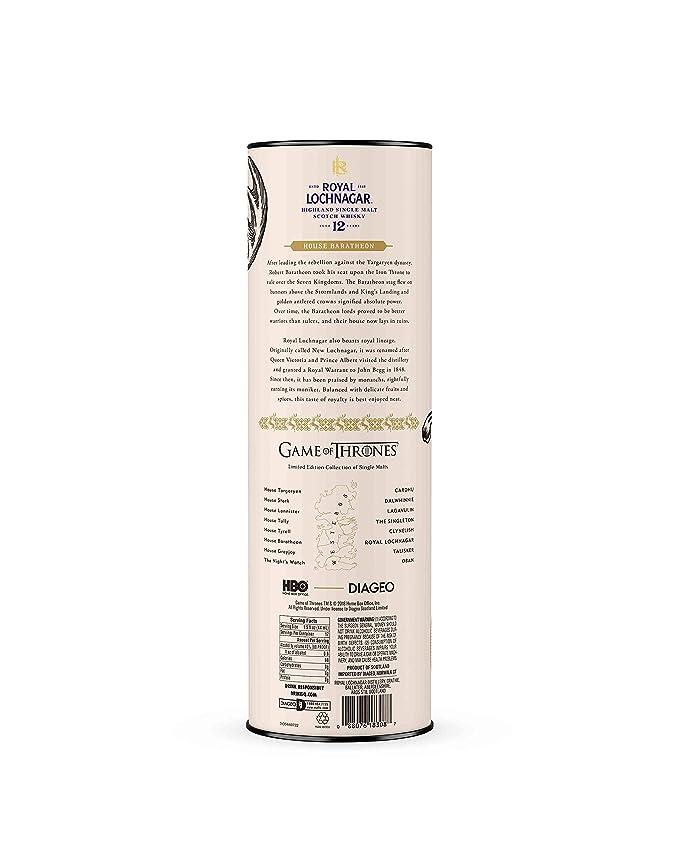 Royal Lochnagar 12 Year Old Single Malt Scotch Whisky 70cl - House  Baratheon Game of Thrones Limited Edition