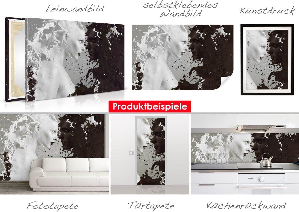 T/ürtapete Milk and Coffee im Format 90x210cm leicht zu verkleben ohne Blasen von Trendw/ände selbstklebende Premium Folie