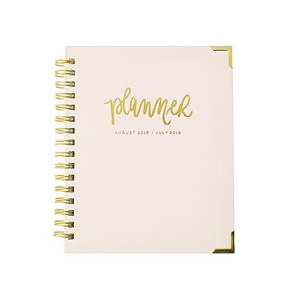 Planificador rosa de Blush August 2018 - julio 2019 ...