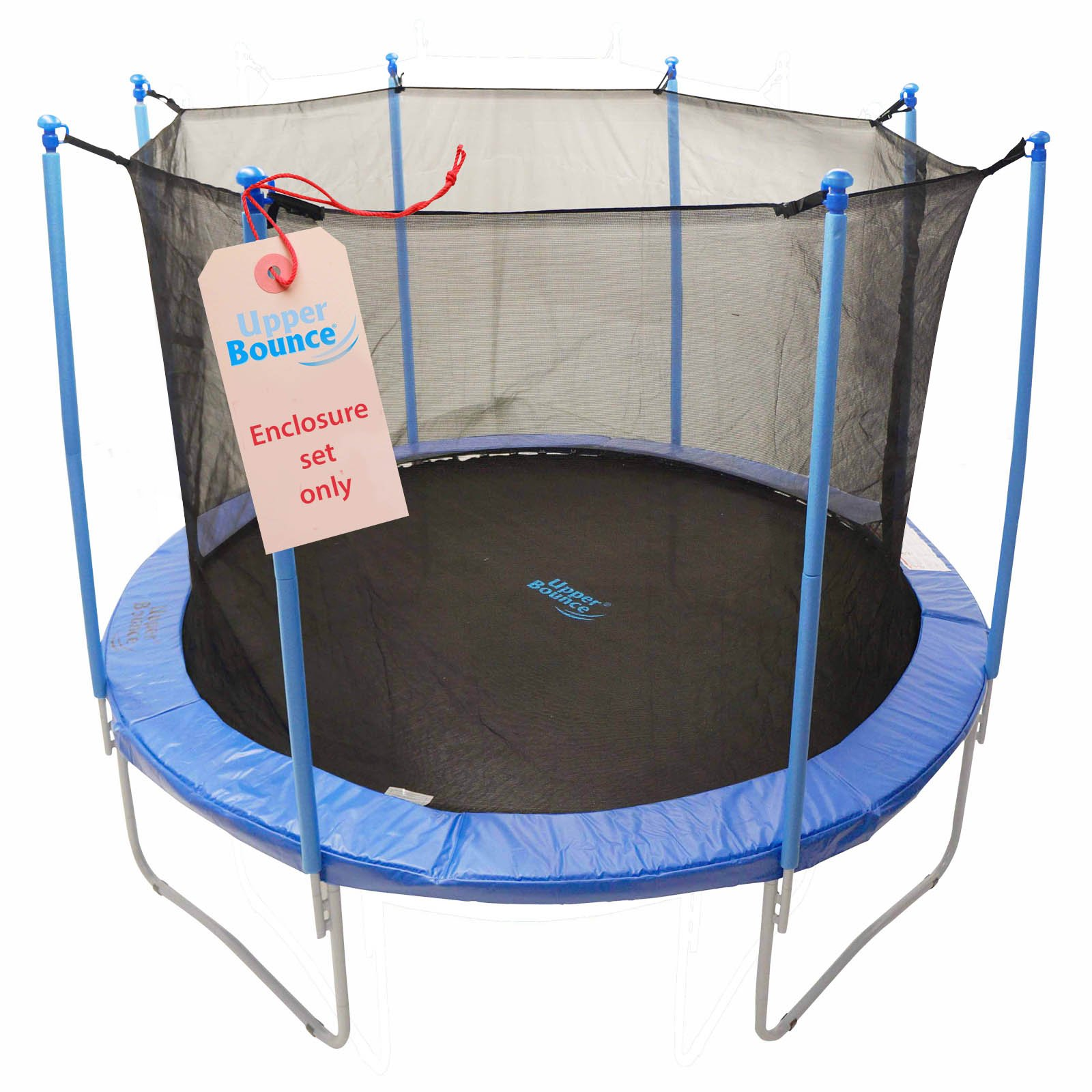 Upper Bounce 8 Pole Trampoline Enclosure Set to fit 14 FT. Trampoline Frames with set of 4 or 8 W-Shaped Legs (Trampoline Not Included)