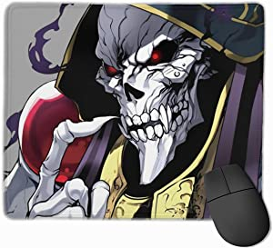 Girl Mouse Pad Overlord Anime Character Personalized Non-Slip Mouse Mat Cool Desk Pad Rubber Base Desk Mat for Office,Computer,Laptop