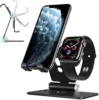 Omoton 2 in 1 Aluminum Foldable Charging Dock Stand