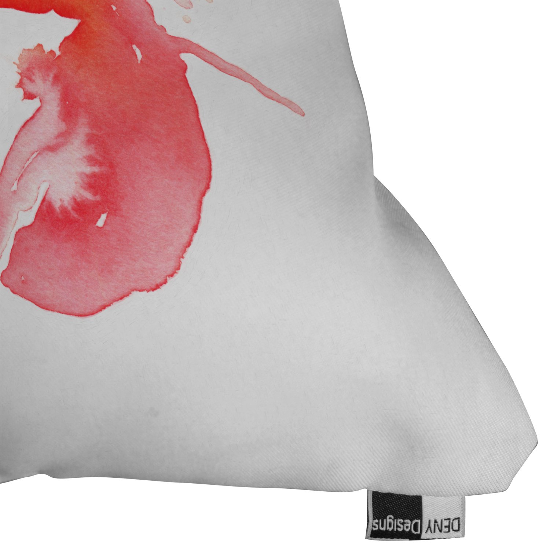 20 x 20 Deny Designs Deny Designs CMYKaren Lobster Outdoor Throw Pillow LG 15904-othrp20