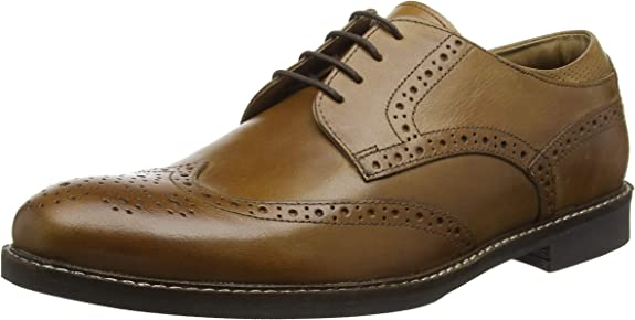 TALLA 41 EU. Red Tape Backford, Zapatos de Cordones Brogue para Hombre