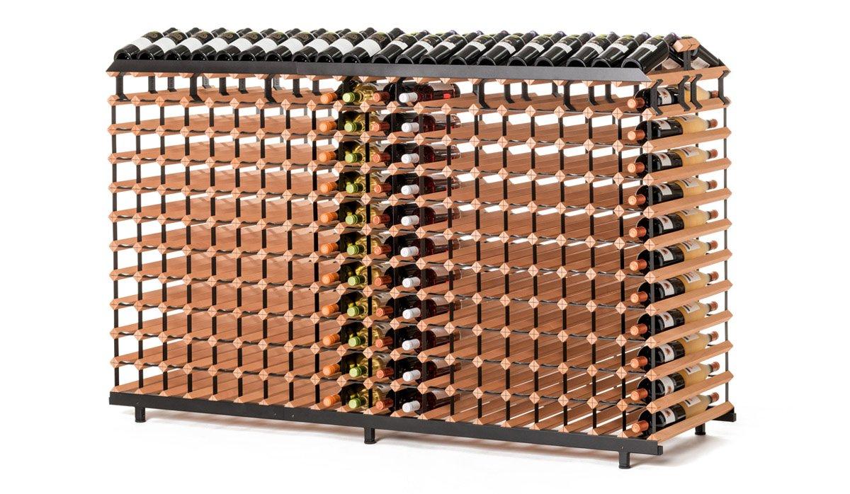 RAXI Show Getränkeregal/ Weinregal 480 Flaschen aus massiv Buchenholz für Vinotheken - Weingeschäfte - Getränkeshops