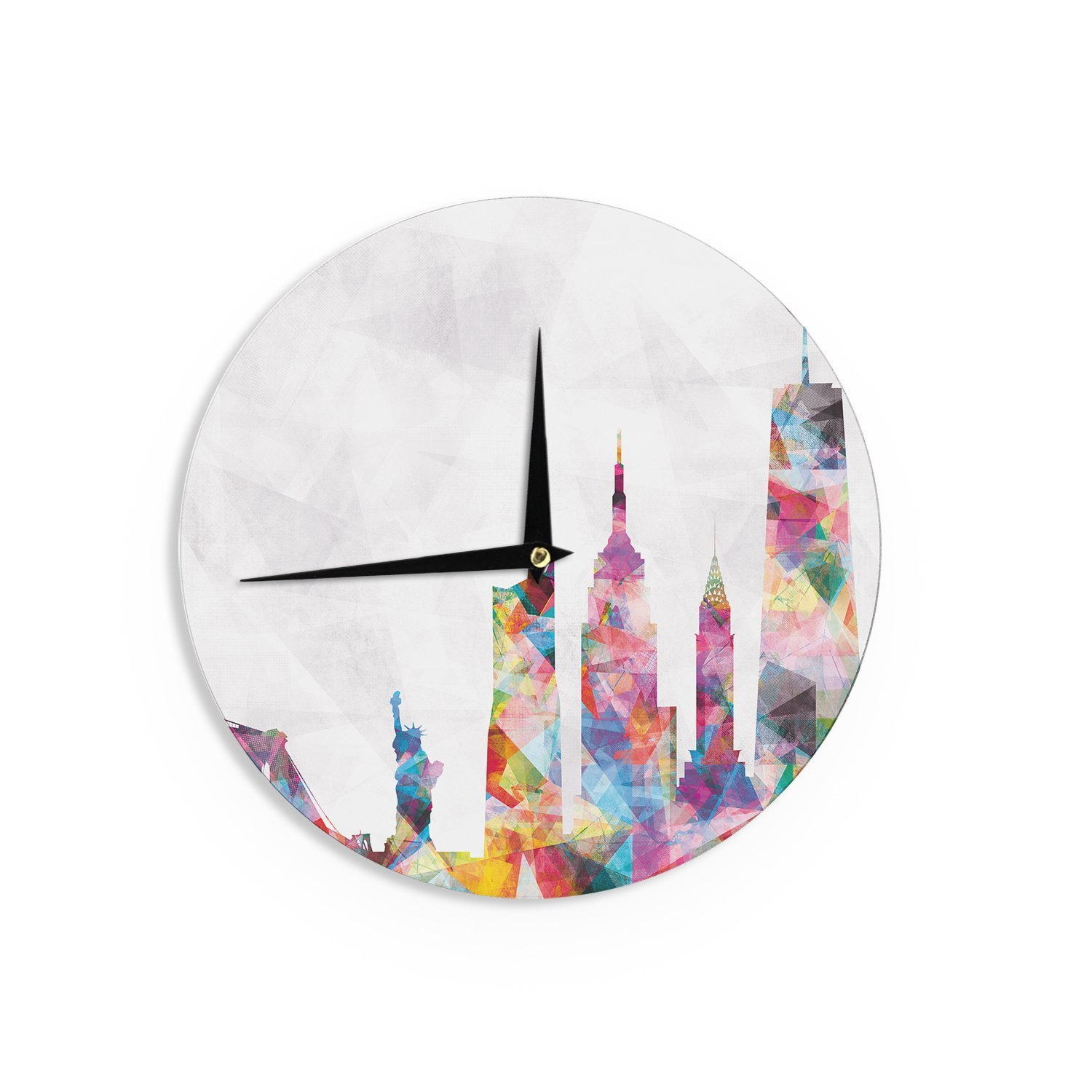 Colorful Artistic City Wall Clock