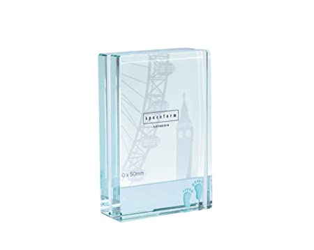 56ea318e9db3 Spaceform Dinky Glass Photo Frame (Baby) - Blue Feet - A Lovely Quality Glass  Frame To Display That Special Photograph (1575)  Amazon.co.uk  Kitchen    Home