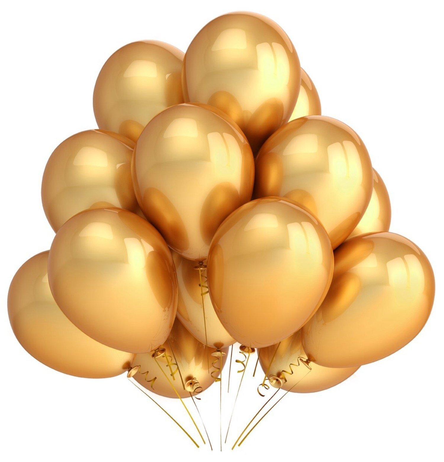Sea View Treasures 200 Bulk 12'' Latex Party Balloons (Gold)