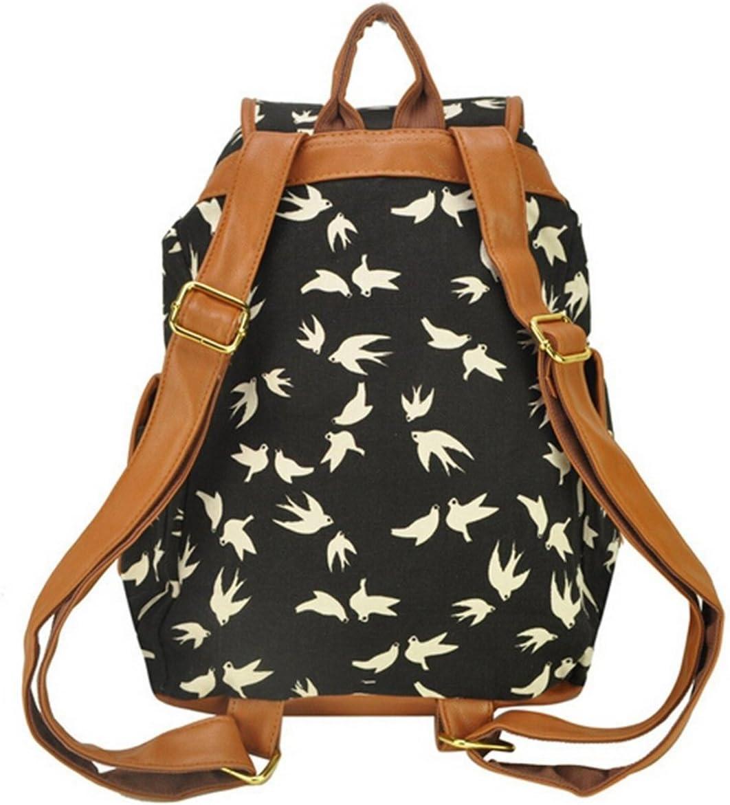 WINOMO Vintage femmes filles fleurs avalent toile voyage sac d/école sac /à dos sac /à dos
