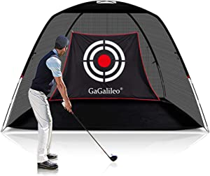 Golf Practice Driving Net for Backyard Golf Net Golf Hitting Nets Driving Range Golfing Net Backyard Golf Training Aids 12 X7'X6.6' Home Driving Range Golf with Target and Carry Bag(Style Optional)