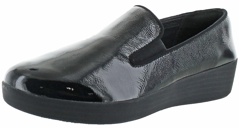 FitFlop Damens's Slip Superskate™ Patent Leder Slip Damens's on Loafer schwarz b660de