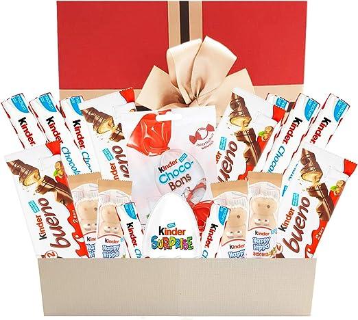 Caja de regalo de chocolate Kinder Variedad Caja de selección de chocolate Cesta de regalo de chocolate de última hora perfecta para todas las ocasiones: Amazon.es: Alimentación y bebidas