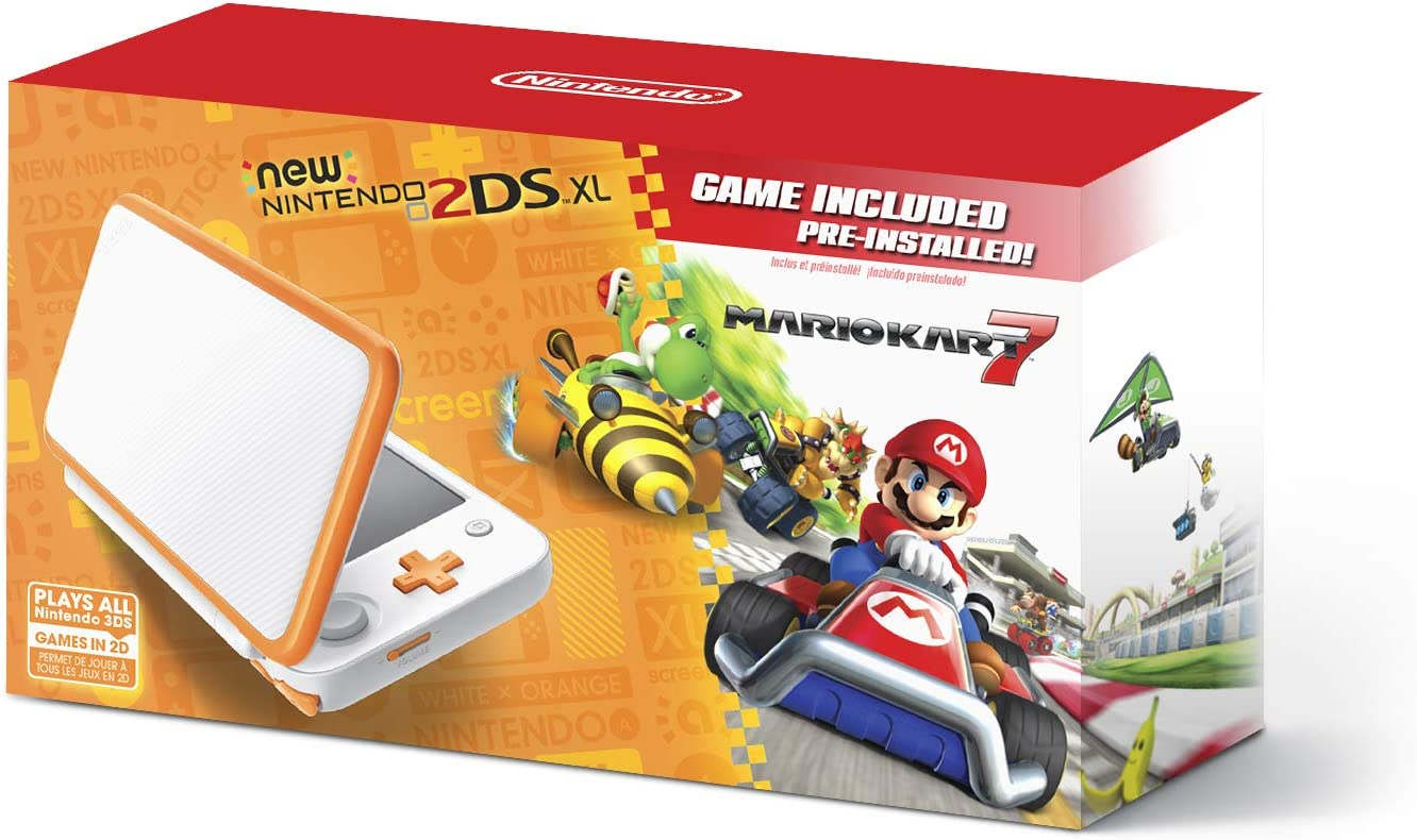01cbd21e5bec Amazon.com  New Nintendo 2DS XL Handheld Game Console - Orange + White With  Mario Kart 7 Pre-installed - Nintendo 2DS  Video Games