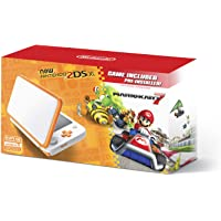 New Nintendo 2DS XL Handheld Game Console - Orange + White With Mario Kart 7 Pre-installed - Nintendo 2DS