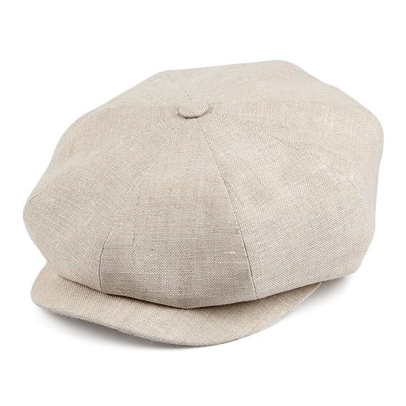 ec58067c515 Village Hats City Sport Linen Newsboy Cap - Oatmeal SMALL  Amazon.co ...