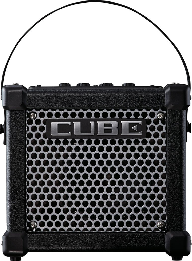 Roland Micro Cube GX Battery Powered Guitar Amplifier, White