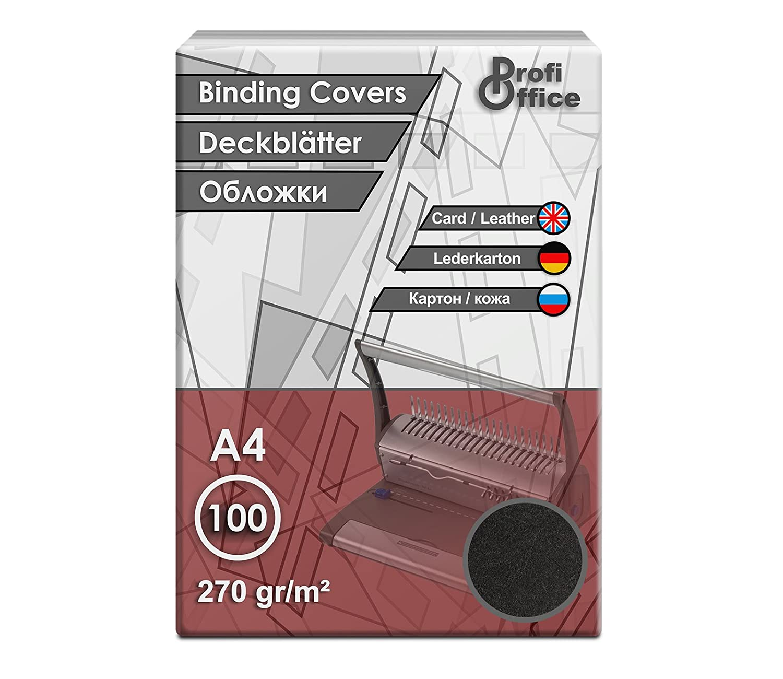 29007 100 St/ück DIN A4 A4 270g//m/² Lederoptik ProfiOffice/® Deckbl/ätter Creme