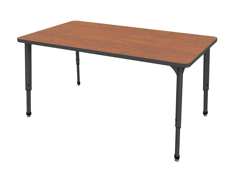 Cherry Marco Group 38-2248-60-BLK Apex Series Rectangle Adjustable Table 36 x 72 Black Trim