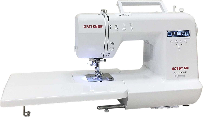 Gritzner Máquina de Coser por Ordenador, Mezcla de Materiales, Blanco, 44 x 36 x 27 cm