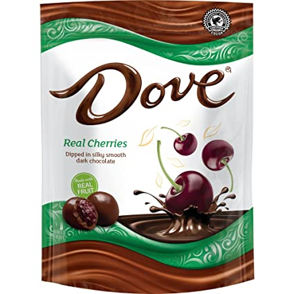 DOVE Fruit Dark Chocolate With Real Blueberries 6-Ounce Bag (Pack of 8)