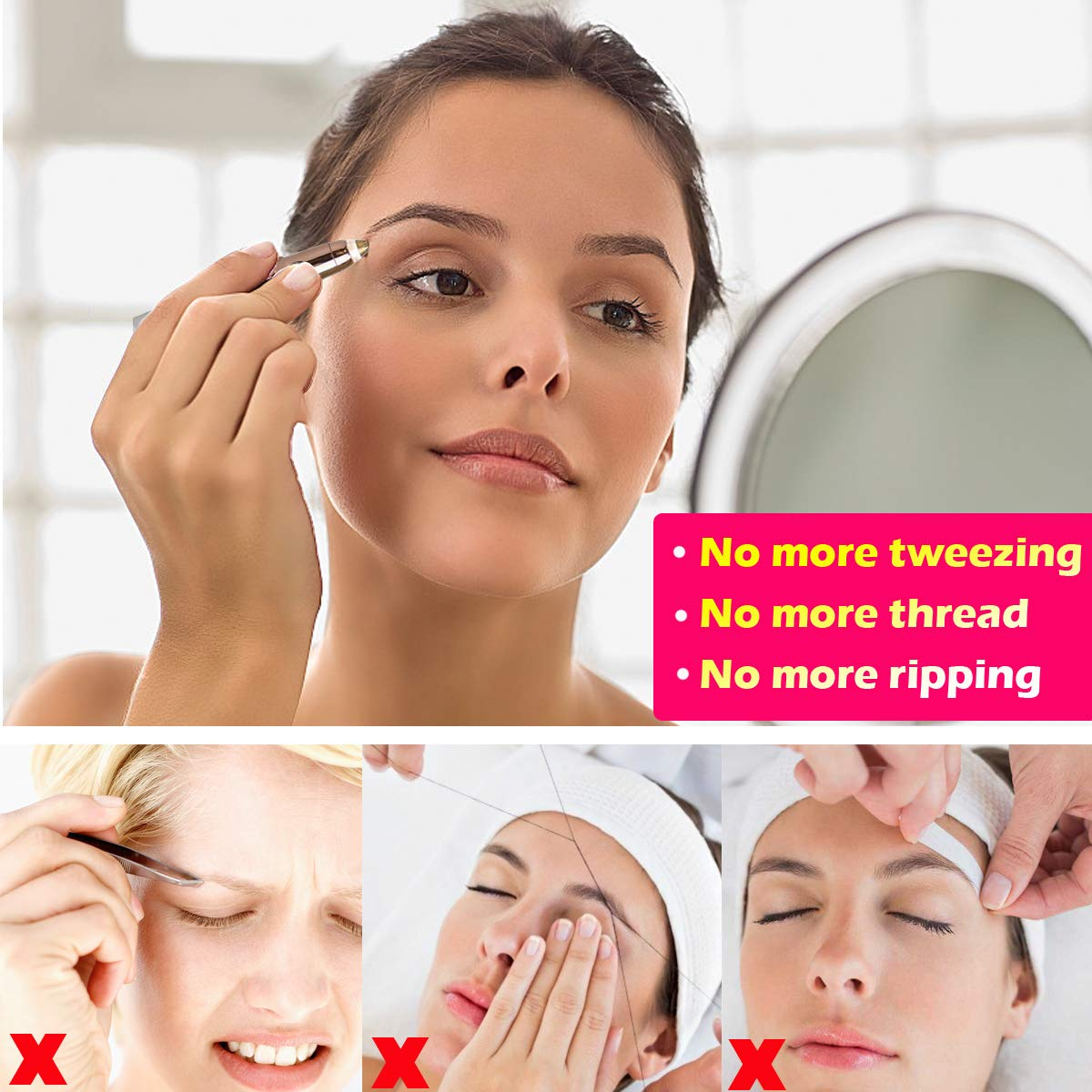 Brows Hair Remover Flawless Best Eyebrow Trimmer Remove Hair