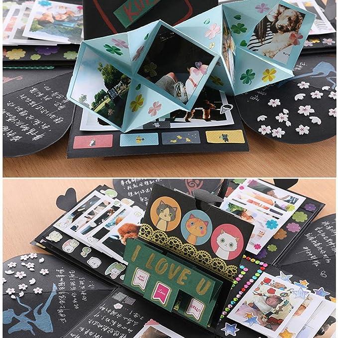 Amazon.com: KOBWA Explosion Box, Creative Explosion Gift Box Love Memory DIY Photo Album as Birthday Anniversary Gifts, a Surprise about Love