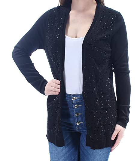 Charter Club Petite Embellished Open-Front Cardigan at Amazon Women s  Clothing store  397261ab6