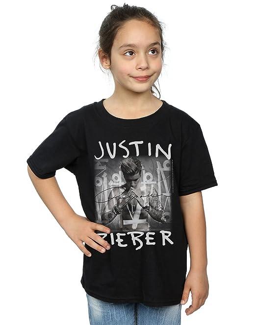 Justin Bieber niñas Purpose Album Cover Camiseta: Amazon.es: Ropa y accesorios