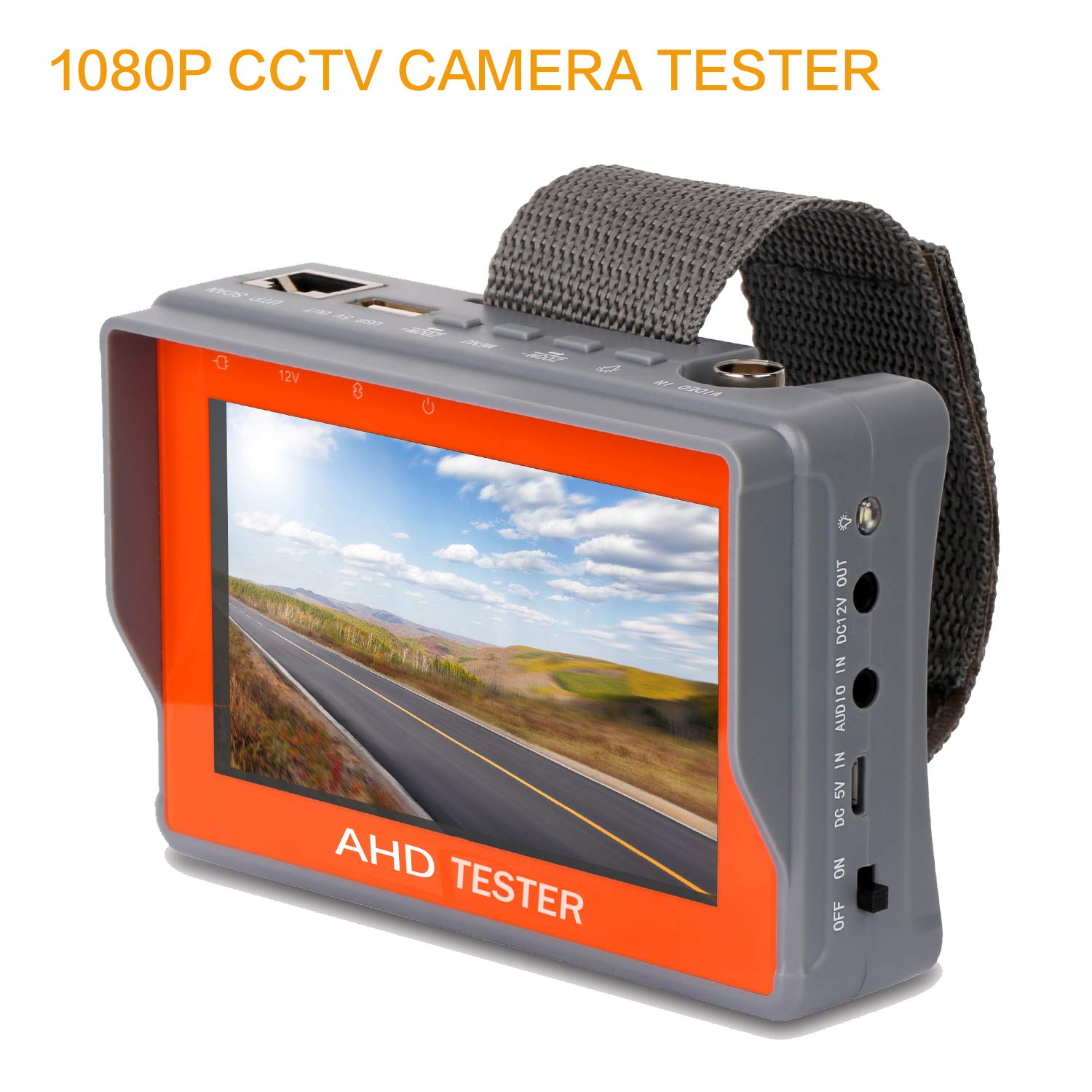 SGEF CCTV Tester 2-in-1 Portable Camera Tester AHD Analog Tester 4.3-inch LCD Monitor Wrist Video Test Cable Test PTZ Control 12V Power Output Audio Tester (IV7A) by SGEF