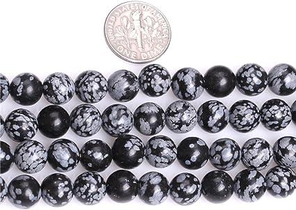 Snowflake Obsidian Chip Perles 5-8 mm Noir//Blanc 240 pcs Handcut À faire soi-même Bijoux
