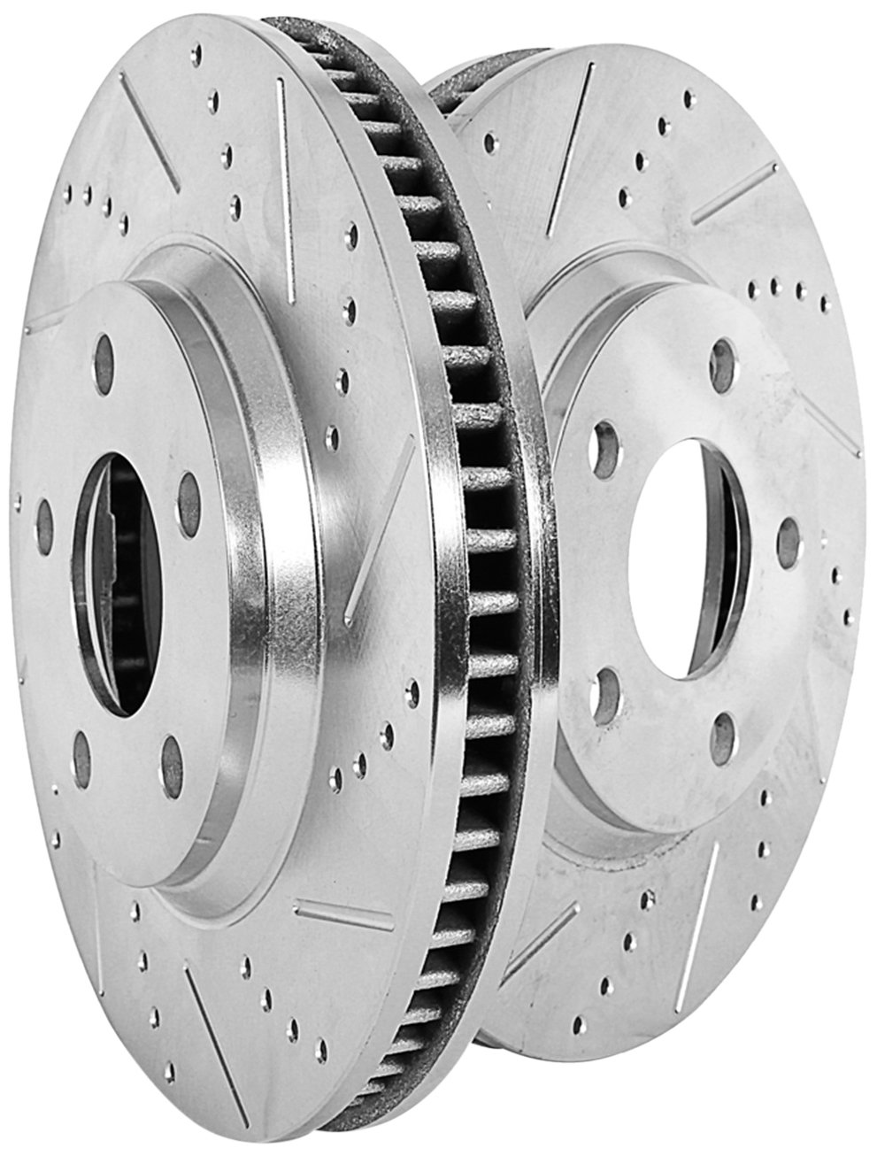 Power Stop JBR1395XPR Front Evolution Drilled & Slotted Rotor Pair
