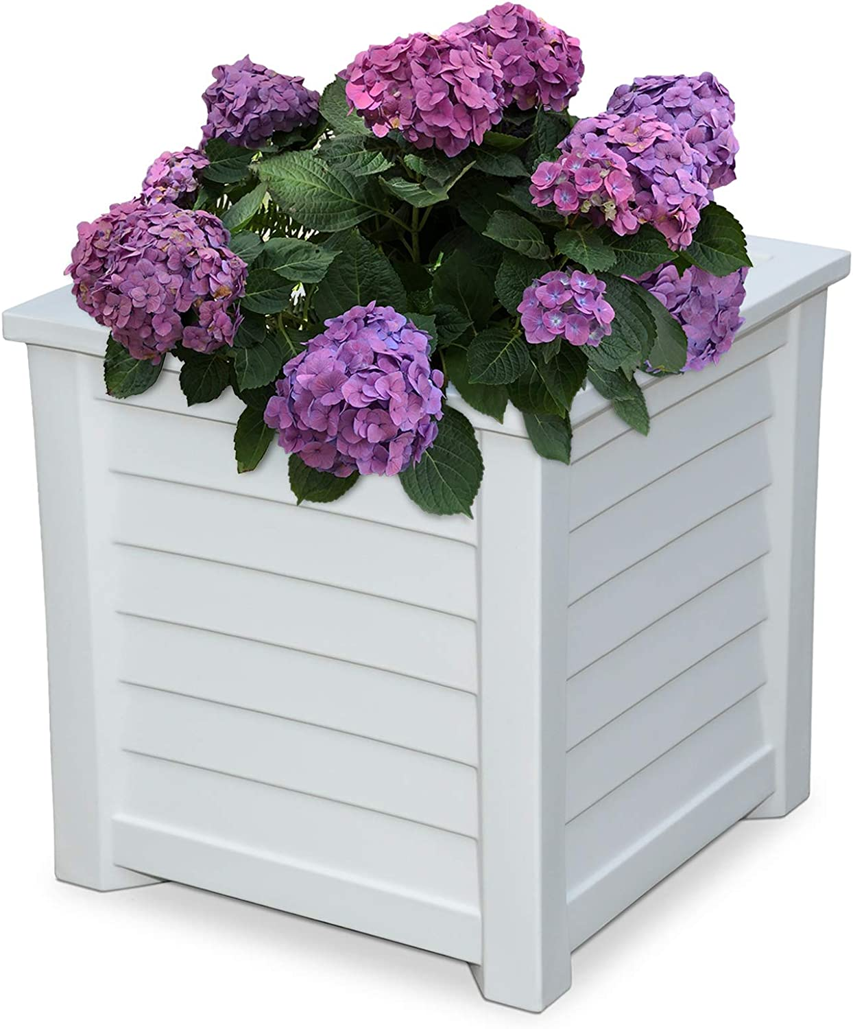 Mayne 5867-W Lakeland Square Patio Planter, 20×20, White