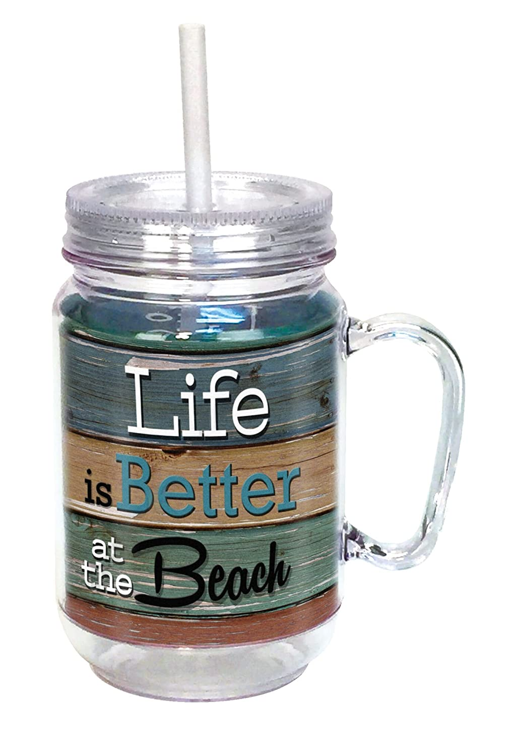 Spoontiques Life Is Better At The Beach Mason Jar Multi