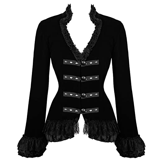 Steampunk Jacket | Steampunk Coat, Overcoat, Cape Hearts and Roses London Velvet Victorian Vintage Riding Dressage Tailcoat Jacket Excellent Quality £48.99 AT vintagedancer.com