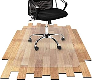 Chihen Office Chair Mat for Carpets, Clear Multi-Purpose Floor Protector Transparent Thick Sturdy Highly Premium Quality Floor Mats for Low Medium Pile Carpets Office