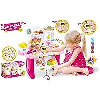 Magicwand® Educational Early Development Pretend Play Mini Supermarket,Cash Register,Shopping Cart Toy Set