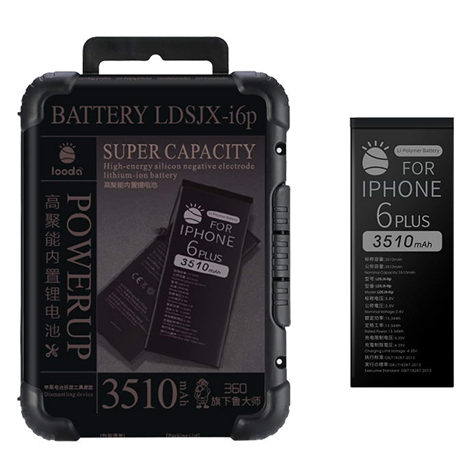 2245mAh Replacement Battery Compatible for iPhone 6S, Super Capacity Power UP Li-ion Battery with Repair Tool Kits Box[24 Months Warranty] LOODA LDSJX-i6s