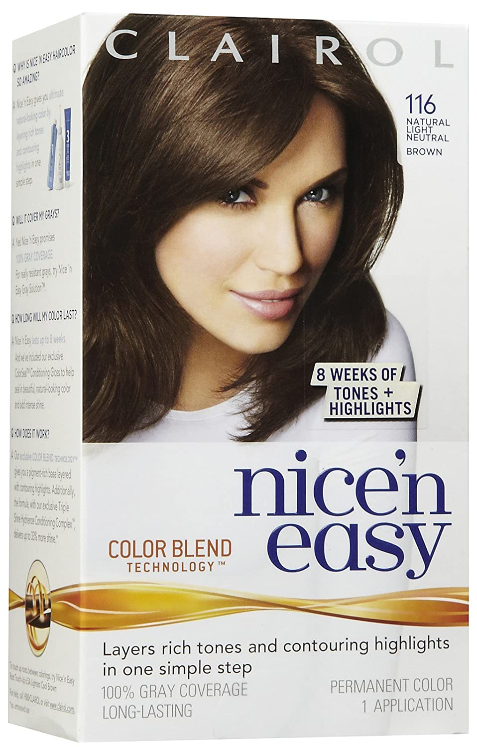 Amazon Clairol Nice N Easy Permanent Color 6116 Natural