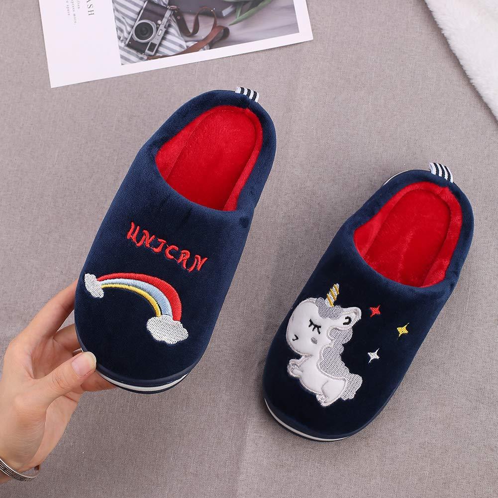 Fille Peluche Pantoufle Fille Chausson Gar/çon Chaussons Hiver Antid/érapants Licorne Chaussures pour Fille Gar/çon Kqpoinw Chausson Enfant