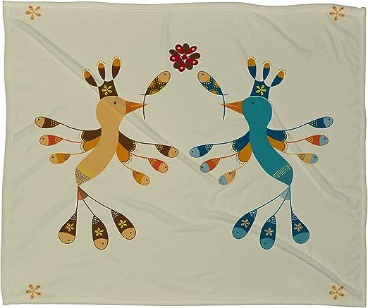 60 x 80 Deny Designs Gabriela Larios Main Garden 2 Fleece Throw Blanket