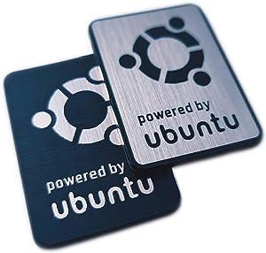 Ubuntu Linux Sticker Set (Two Emblems) - 35 mm x 25 mm