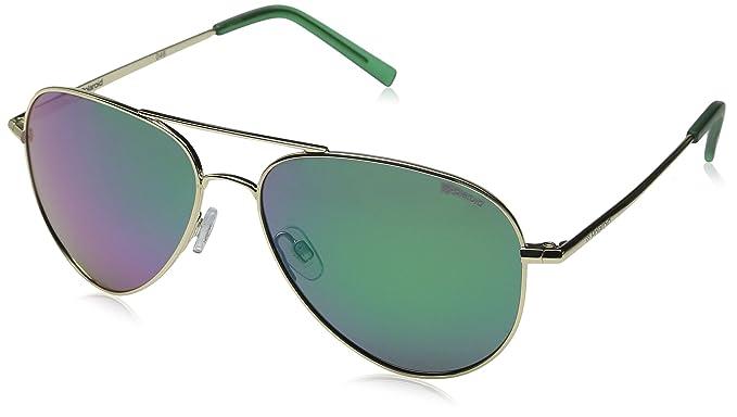 Polaroid Unisex-Erwachsene Sonnenbrille Pld 6012/N K7 J5G, Gold (Gold/Gn Green), 62