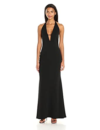 9290257c10d7 Amazon.com  Badgley Mischka Women s Plunging V-Neck Gown  Clothing