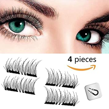 35170c4cbc0 Bahpaud Magnetic False Eyelashes 3D 2018 New Version, 0.2mm Ultra Thin  Glue-Free