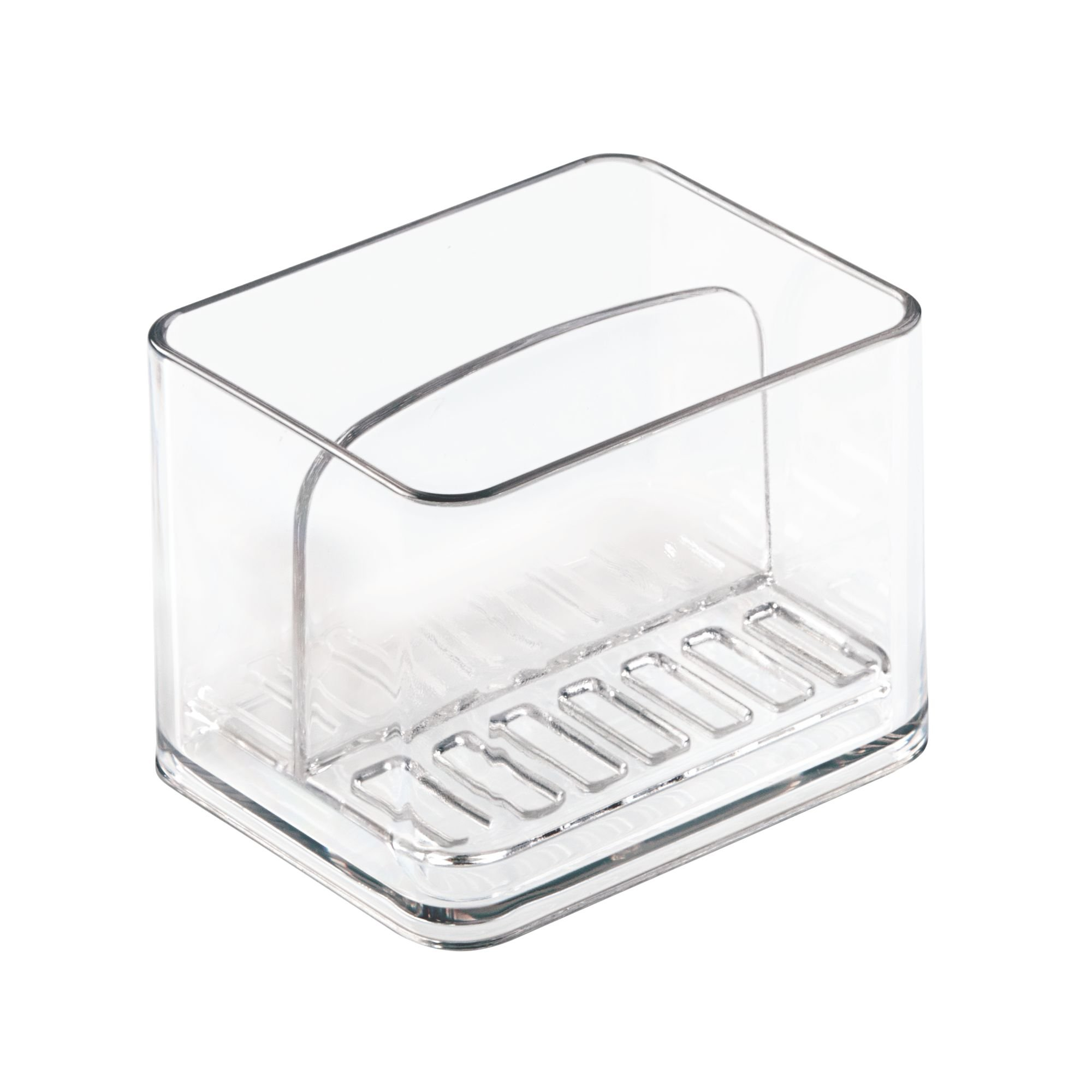 mDesign Kitchen Sink Double Holder for Sponges, Scrubbers - Pack of 2, Clear by mDesign (Image #6)