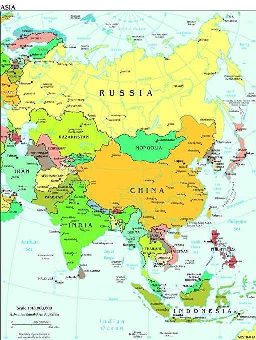 Map Of Asia 500.Amazon Com Lais Jigsaw Map Asia 500 Pieces Toys Games